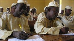 Students at Al Al-Bayan Islamic school