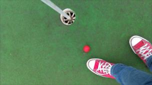 A game of crazy golf