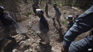 Riot police in Kabul April 5, 2011.