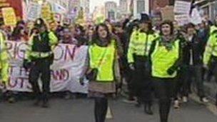 Brighton protests