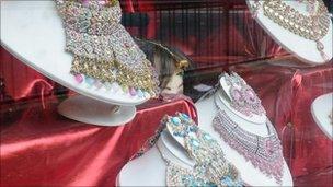 jewellery in shop window