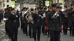 The Band of The Brigade of Gurkhas. Picture taken by Ian Griffiths