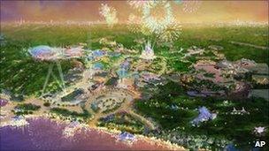 Artist's rendering of proposed Shanghai Disney Resort