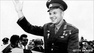 Yuri Gagarin on a visit to London, July 11, 1961