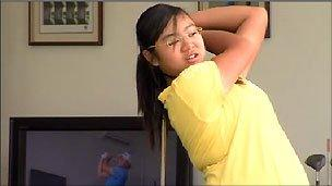 Young golfer Amanda Tan from Singapore