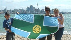 Derbyshire flag in New Zealand