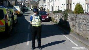 Police officer at Main Street