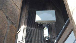 Emergency radio system on Victoria Tower