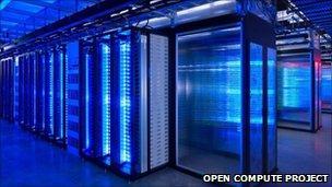 Facebook servers in data centre