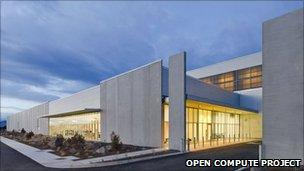 Exterior Facebook data centre