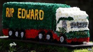 A floral tribute to Edward Stobart