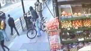 CCTV of cyclist