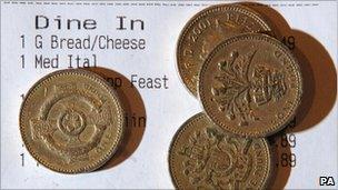 Pounds coins