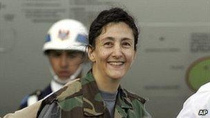 Ingrid Betancourt in 2008, after she was freed by Colombian soldiers
