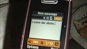 """Leave me alone"" as a text message (generic)"