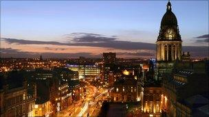 Leeds at night (Welcome to Yorkshire)