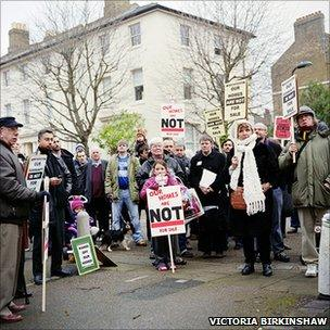 Demonstration in Victoria Park