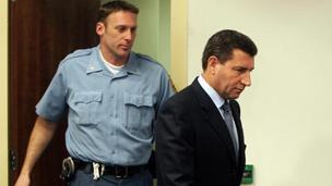 Ante Gotovina in court at The Hague