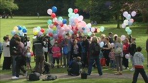 Balloon launch in Swindon