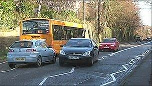 Derby bus lane