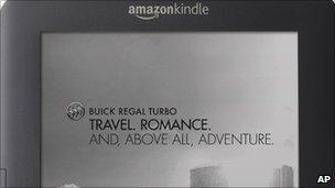 A screenshot of advertising on the Kindle