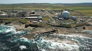 Dounreay site, aerial view