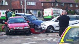 Four car crash in Wollaton