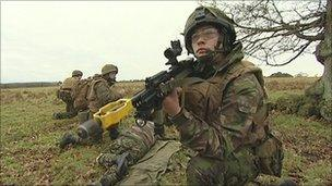 South West soldiers training for Afghanistan
