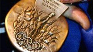 Briton Alex Coomber's bronze medal from the 2002 Winter Olympics in Salt Lake City