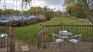 The garden at the Tea Hut, Woodbridge