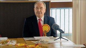 John Swinburne at his party's manifesto launch