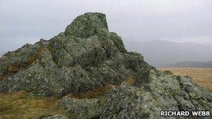 Summit of Moel Tryfan, courtesy Richard Webb