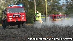 Scene (pic: Shropshire Fire and Rescue Service)