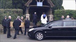 Belinda Day's body at Budleigh Salterton cemetery