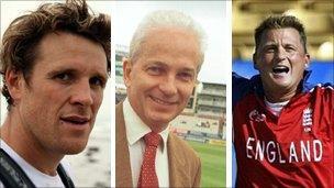 James Cracknell, David Gower and Darren Gough