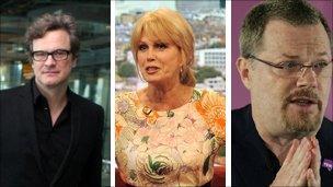 Colin Firth, Joanna Lumley, Eddie Izzard