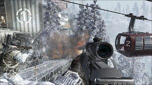 Screen shot from Call of Duty
