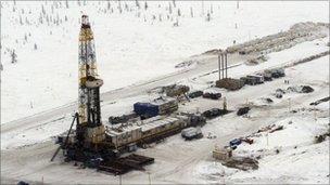 Siberian oil field