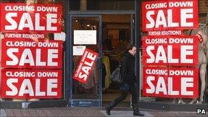 Shop closing down in the UK