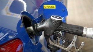 Fuel pump filling car