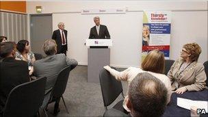 Andrew Lansley speaking to RCN delegates
