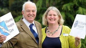Waveney Hospice Care chairman Malcolm Berridge and St Elizabeth chief executive Jane Petit