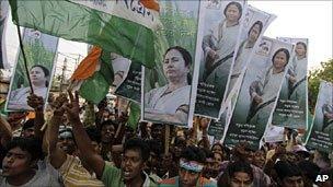 Supporters of Mamata Banerjee