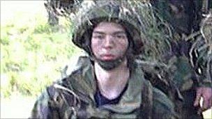 Jonathan Kirby in army uniform