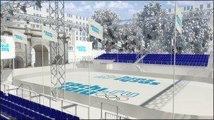 Artist's impression of Sochi World at Marble Arch in 2014