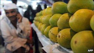 Mango stall in India