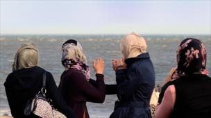 Women looking out to sea