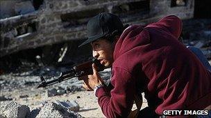 Rebel fighter in Misrata
