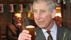 The Prince of Wales toasts St David's Day