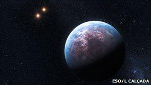 An impression of the Gliese 667 solar system